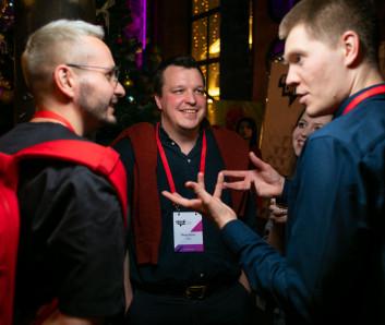 Максим Шалотенко и Денис Фалалеев, Яндекс;  Артем Фишер, Avon