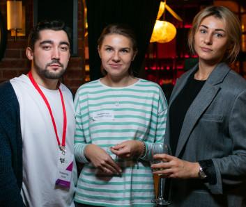Игорь Посталенко, Тинькофф; Екатерина Гераськина и Марина Финченко, Artics Internet Solutions